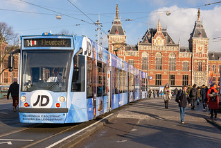 Amsterdam Centraal GVB 2108 (JD reclame)