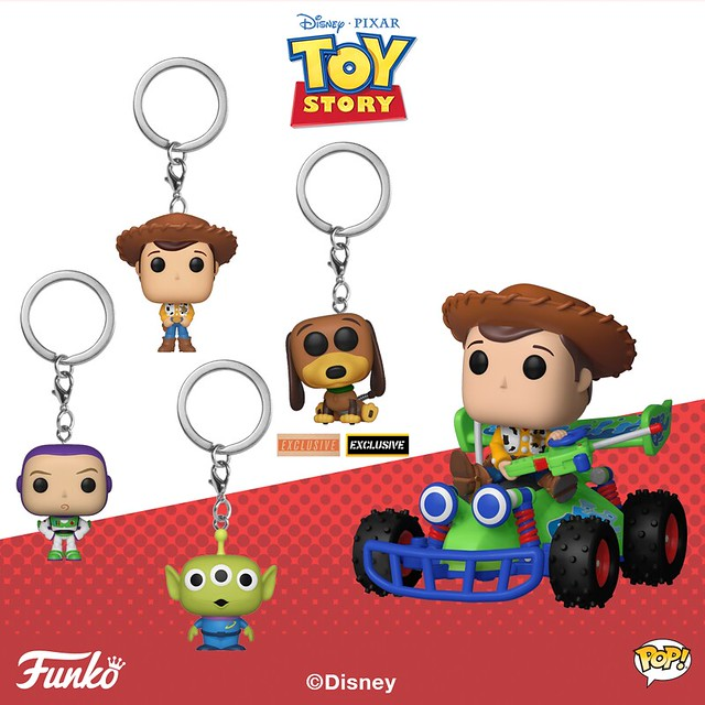 Funko Pop! Vinyl《玩具總動員》Toy Story - Pop!, Pop! Ride and Pocket Pop! Keychain 多款作品公開!
