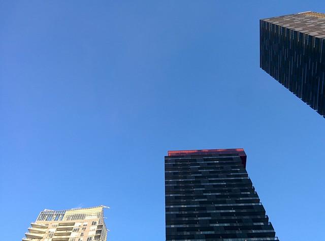 Three new towers, northeast corner of Yonge and Eglinton #toronto #yongeandeglinton #skyline #towers #blue #sky
