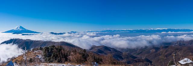 富士山と南アルプス@白谷ノ丸