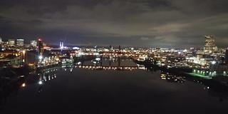 Portland bridges at night - Gianni