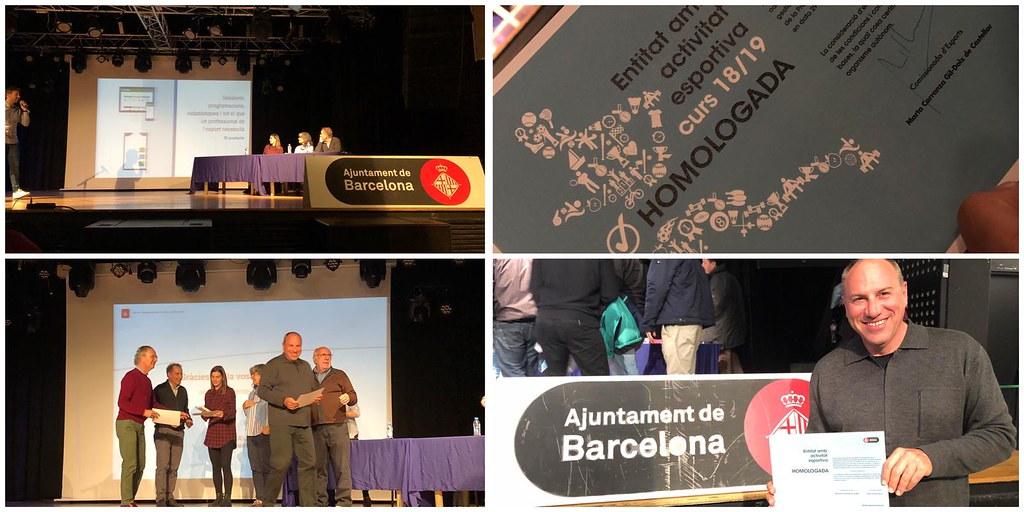 LLiurament Certificat Entitat Homologada Ajuntament de Barcelona - 11/12/2018 - clubarcmontjuic - Flickr