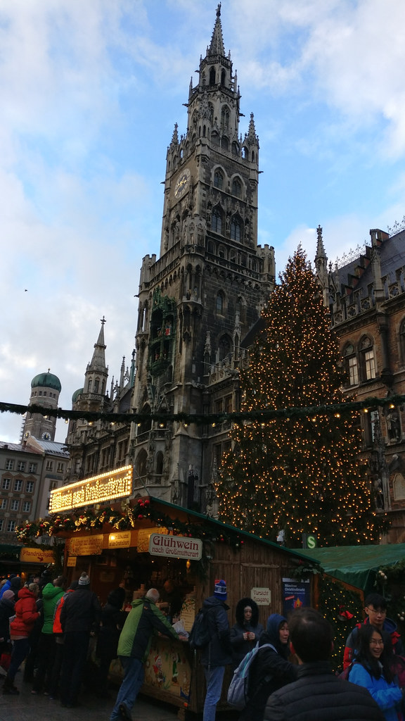 The famous Town Hall of Munich surrounded by X-Mas