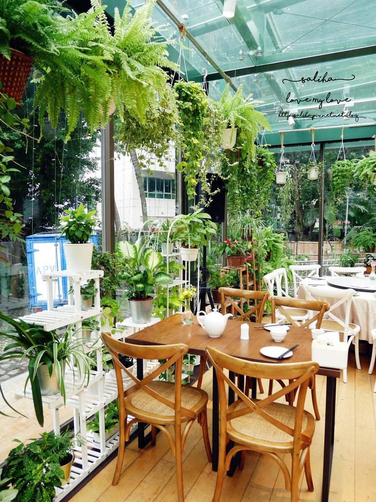 台北古亭站附近絕美玻璃屋植物系浪漫約會餐廳推薦陸聯廳 (8)
