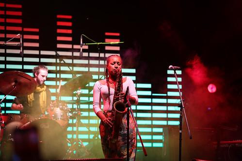 Nubya Garcia and the band