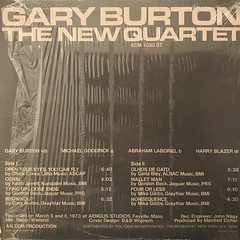 GARY BURTON:THE NEW QUARTET(JACKET B)