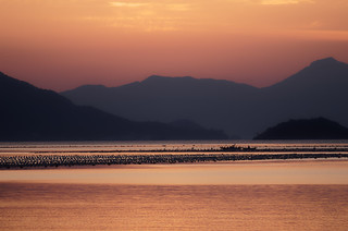 Sunset in 대곡리 (Hacheong-myeon) close to 거제도 (Geoje island) Korea