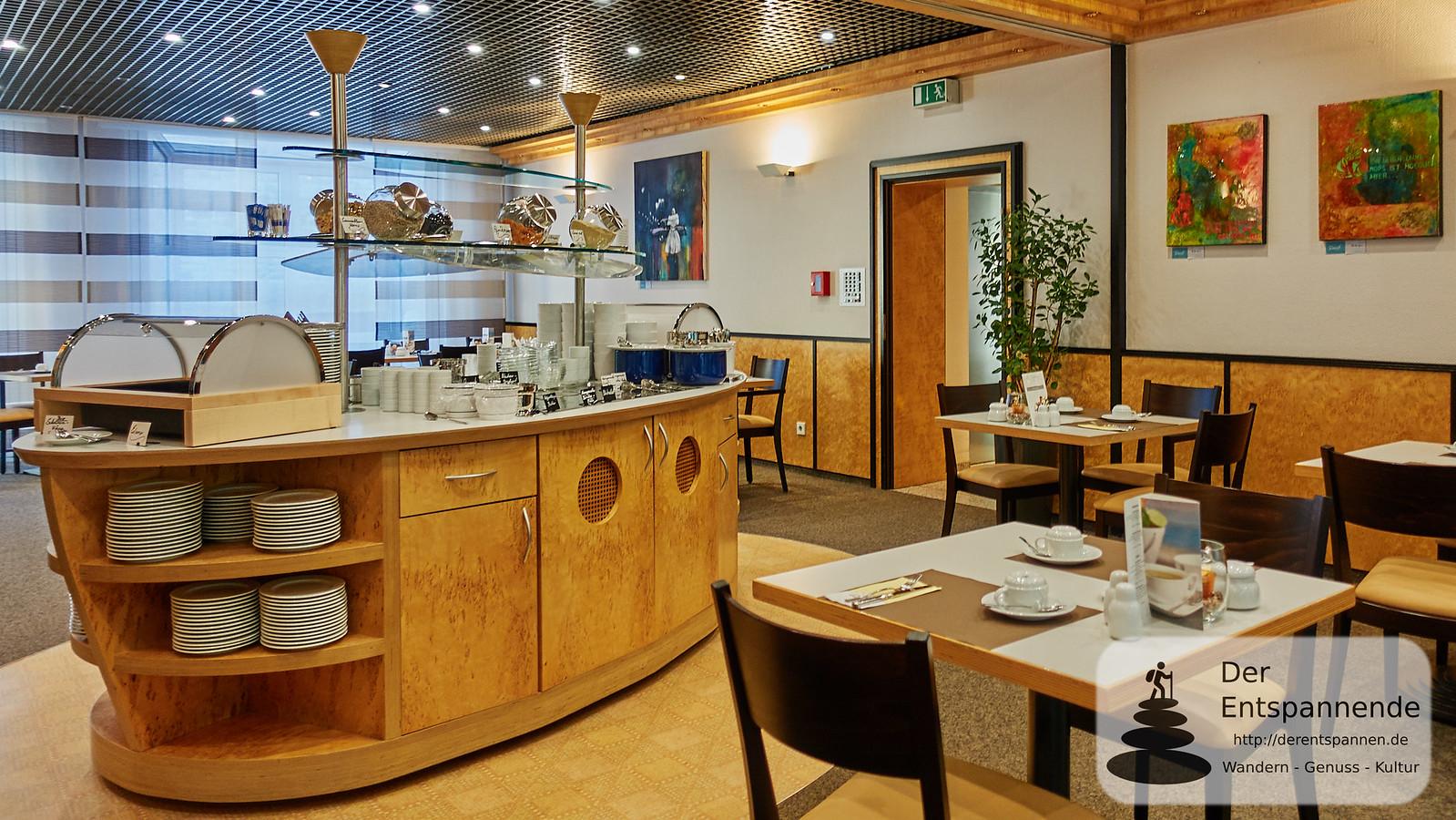 Frühstücksraum im Stadthotel Ettlingen