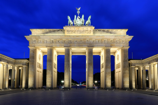 The Brandenburg Gate in the early morning