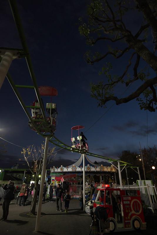 夜のあらかわ遊園