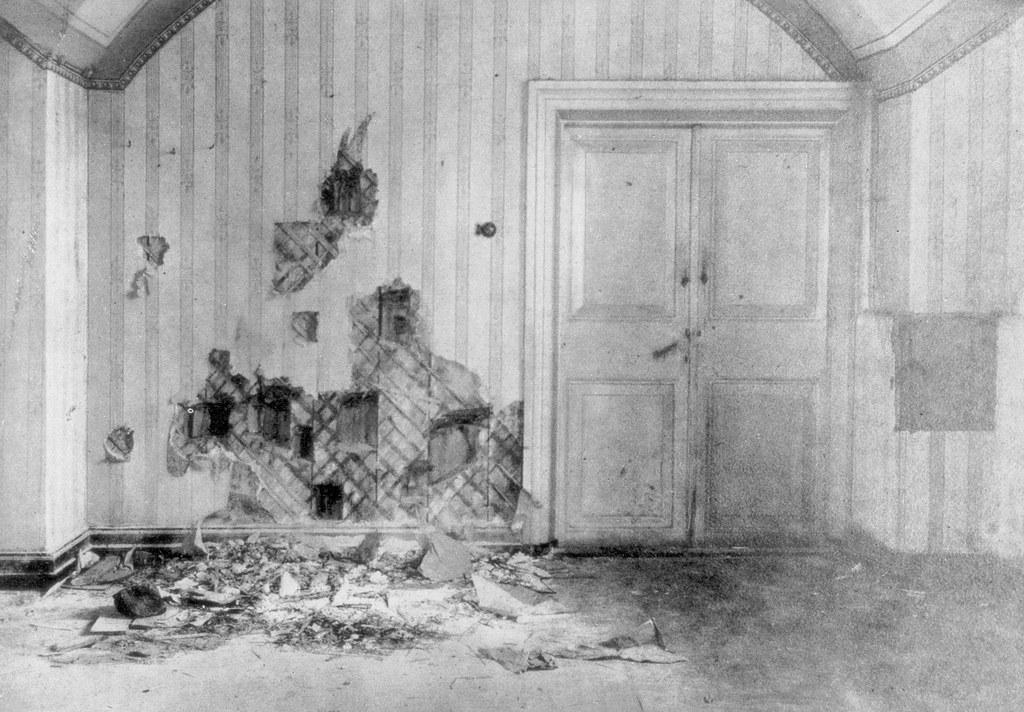 1918. Комната, где царь Николай II и его семья были казнены, Екатеринбург