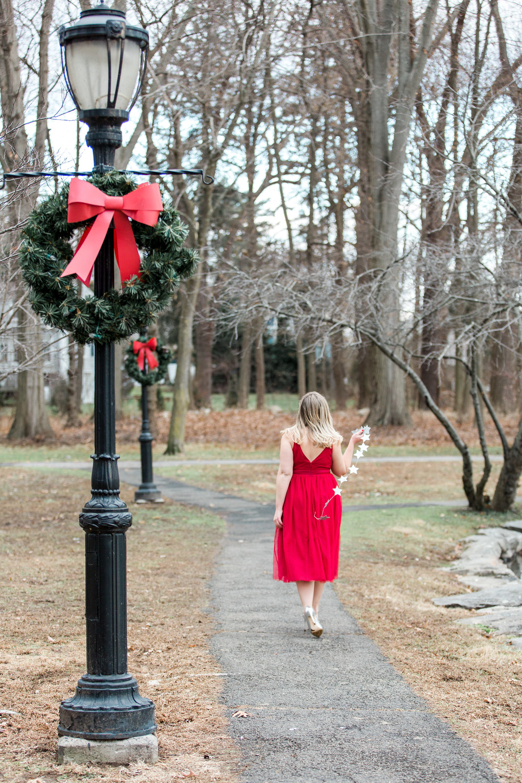 Twirling in Tulle for Christmas | Red Tulle Midi Dress Christmas Holiday Outfit Fashion
