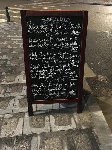 Carta de la terraza