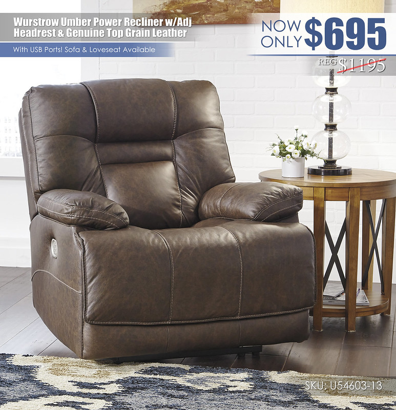 Wurstrow Umber Power Recliner_U54603-13