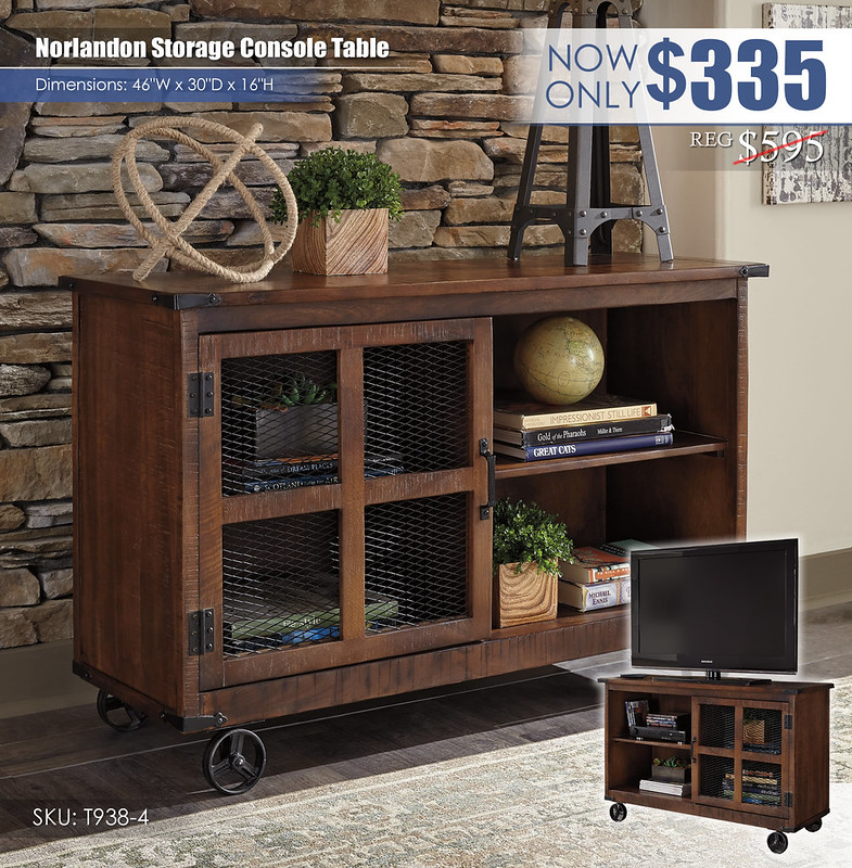 Norlandon Storage Console Table_T938-4