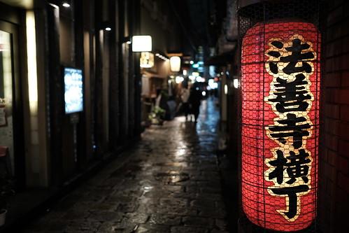 雨の法善寺横丁