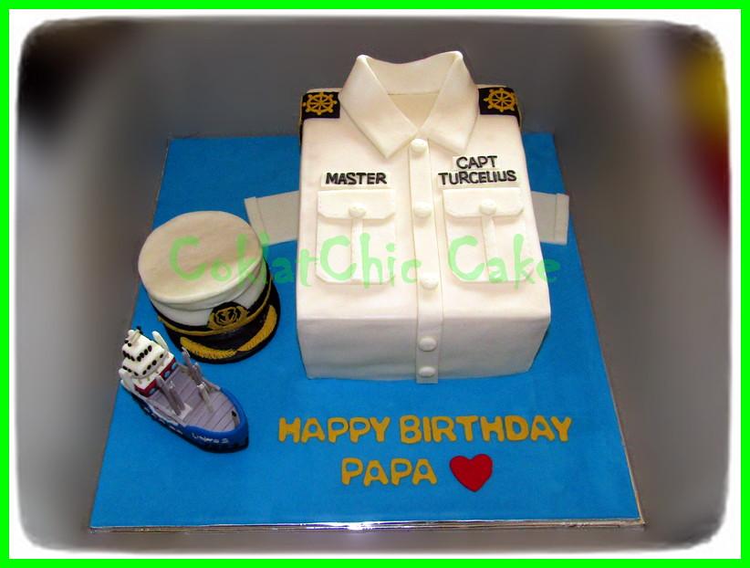 Cake Captain Kapal PAPA 20 cm