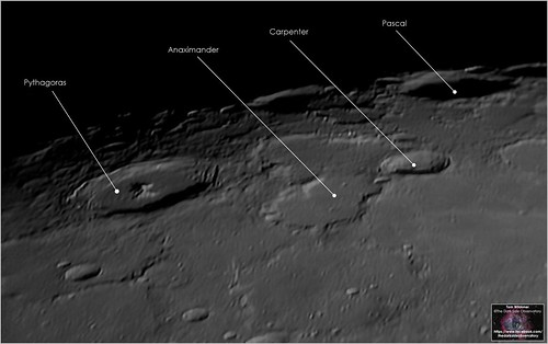 North Pole Region Craters on the Moon