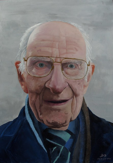 Alfred William (Bill) Frankland MBE (born 19 March 1912) , oil painting portrait by Léa Brunet Wong