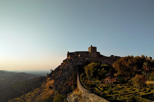 marvão portugal castle castelo sunset afternoon mountain