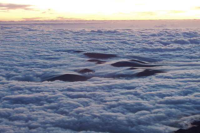 Sea of clouds from Mount Teide, Tenerife