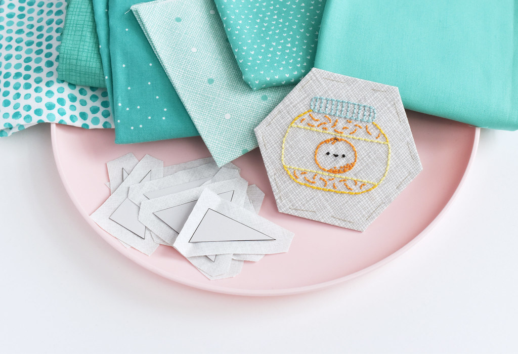 Jam of the Month Club EPP Mini Quilt Pieces