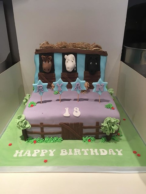 Horse Theme Cake by Jjs Finishing Touches