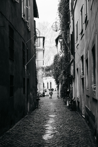 """Image titled """"Down the street, Rome. (B&W)"""""""