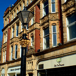 Ornate lamp outside Miller Arcade Preston