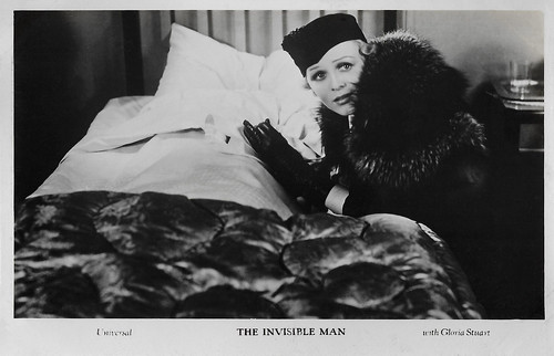 Gloria Stuart (and Claude Rains) in The Invisible Man (1933)