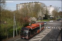 Iveco Bus Créalis 18 GNC - Setram (Société d'Économie Mixte des TRansports en commun de l'Agglomération Mancelle) n°305