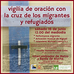 16.6.18 Vigilia en CIE de Aluche con la Cruz de Lampedusa