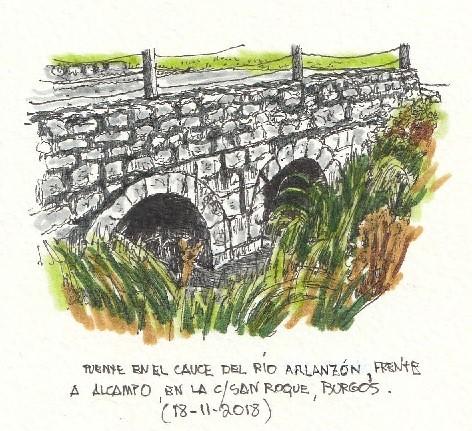 Burgos. Puente sobre canal