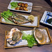 Baby Scallop Kushi, Grilled Shishamo Smelt, Grilled Oyster at 炭家 Sumiya, Suntec City