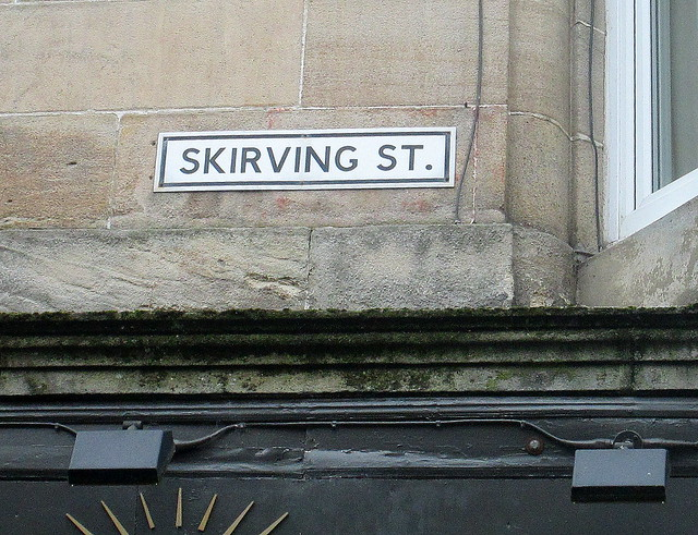 Second Skirving Street Sign, Glasgow
