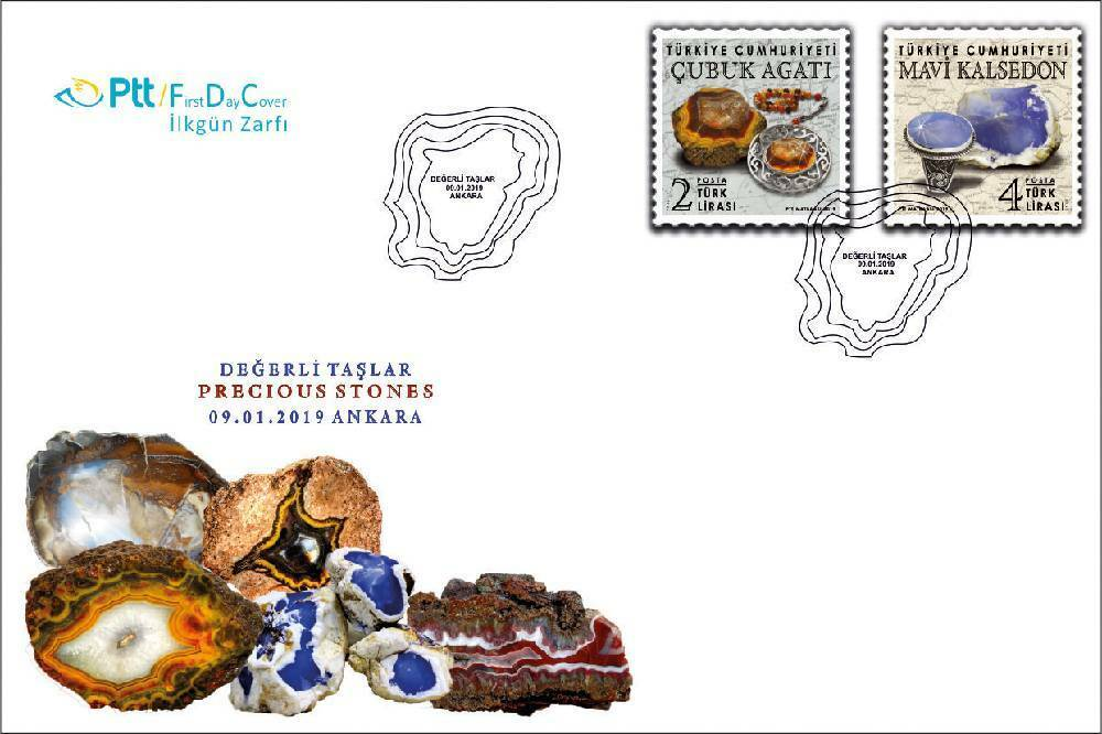 Turkey - Precious Stones (January 9, 2019) first day cover