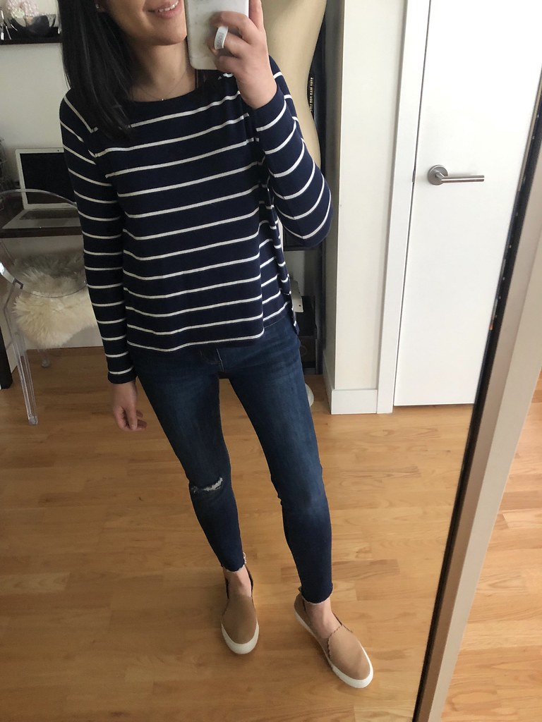 Old Navy Loose Luxe Soft-Spun Tee, size XS petite