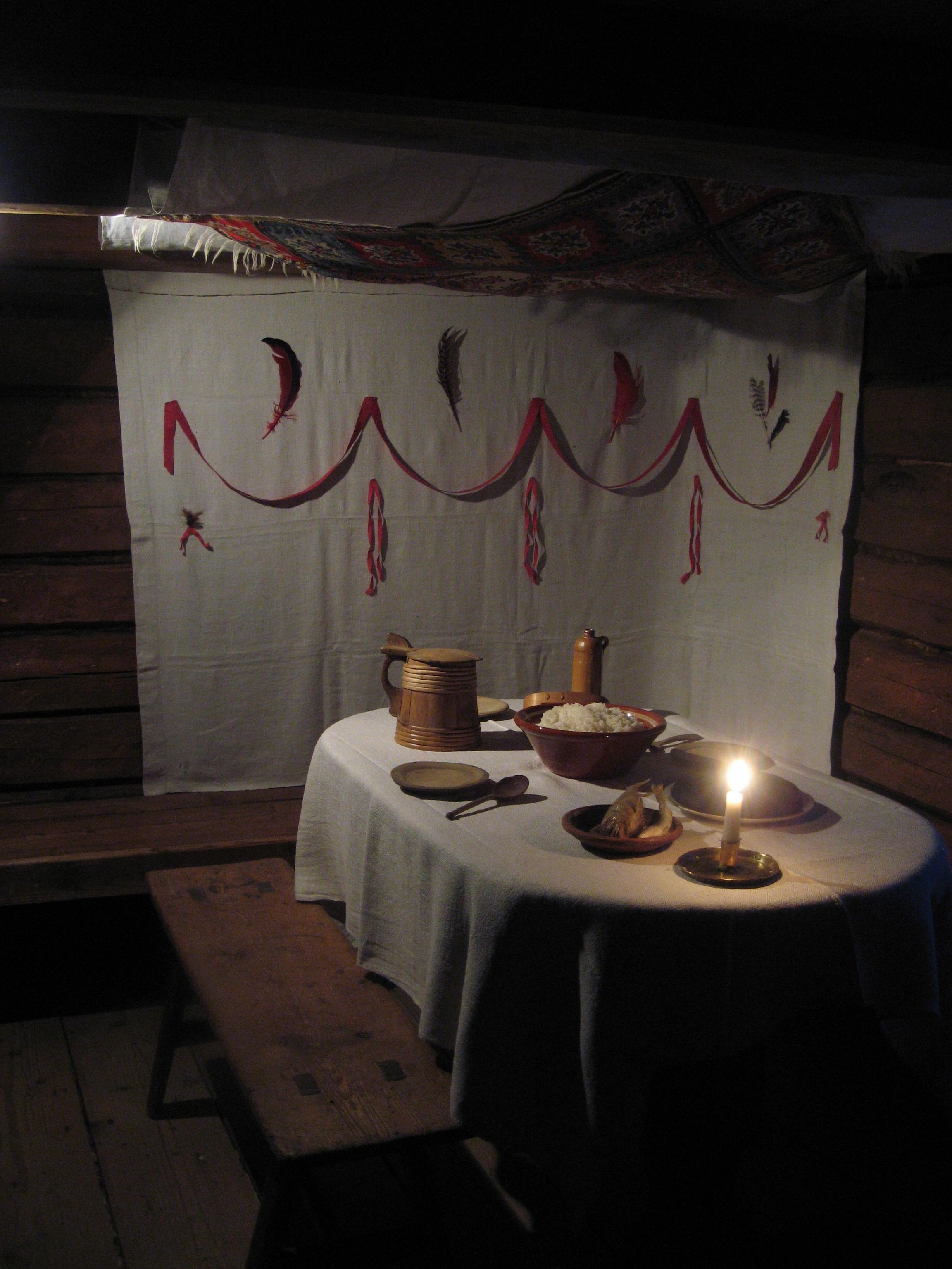 Christmas dinner as in the archipelago, at Luostarinmäki Handicrafts Museum, Turku. Photo taken on December 26, 2009.