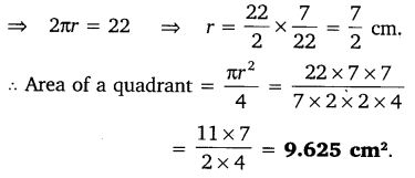 NCERT Solutions for Class 10 Maths Chapter 12 Areas Related to Circles 7