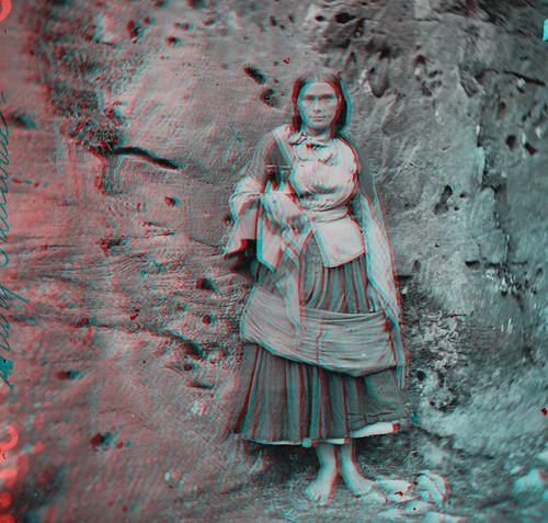 Full-length portrait taken at the Gap of Dunloe, Killarney, Co. Kerry (from a NLIreland stereo pair)