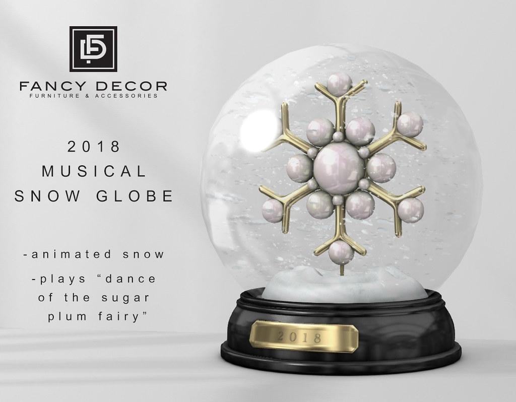 2018 Musical Snow Globe