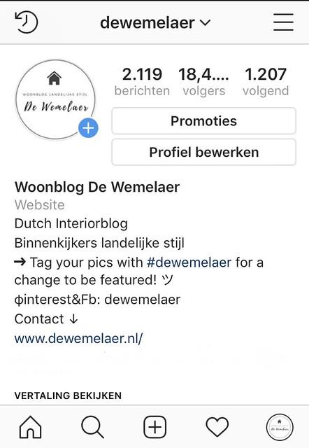 Woonblog landelijke stijl op Instagram