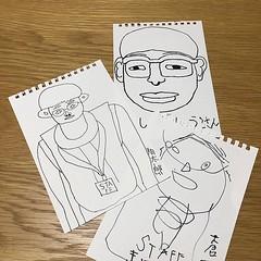 障がいのある子どもたちが通う放課後デイサービス あっぷるしゃんぷ石巻 の子供達に似顔絵を描いてもらいました どれもみんなスバラシイ