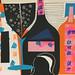 collage bouteilles 1 B Delachanal