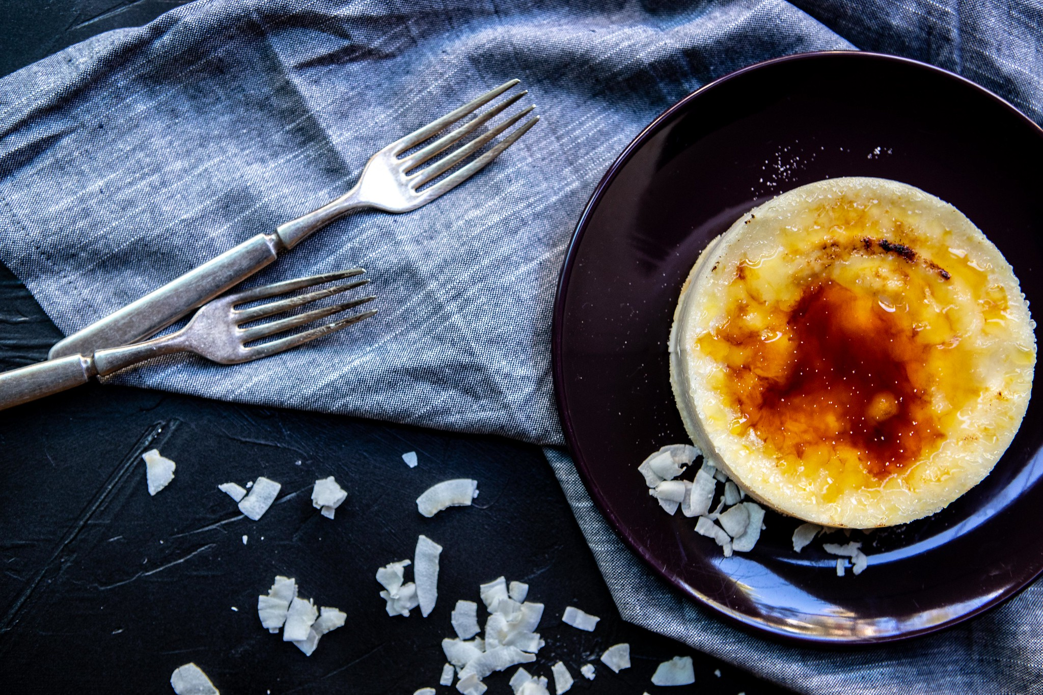 no-bake gluten-free ricotta coconut cheesecakes