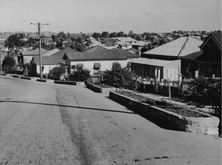 Fernberg Road in the suburb of Rosalie, Brisbane, 1950