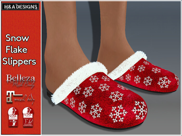 [H&A Designs]-SnowFlake Slippers