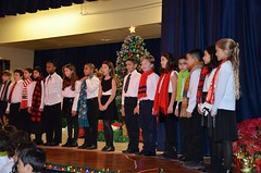 Fifth-Graders At The Christmas Concert
