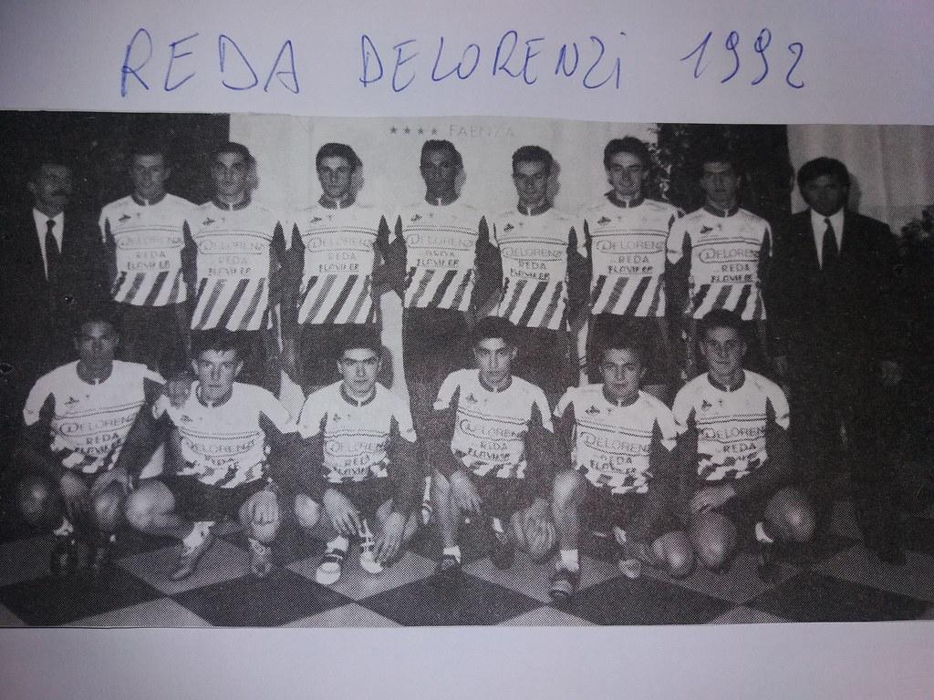 Reda Delorenzi 1992 - da Sinistra in piedi D.S. Drei R. ,Tassinari M. Taroni D. Traversari R. Traversari F. Lucchi G. Brighi P. Drei A. D.S.Zauli G.in ginocchio da sx Rivola I.Laghi R. Zavatta D. Piovaccari J.  Andreani C.Lazzari S.