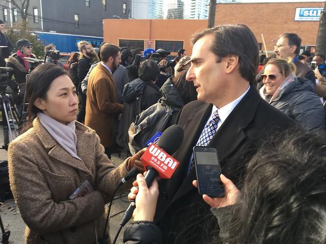Senator Gianaris Rallies Against Amazon in Long Island City - 11.14.18